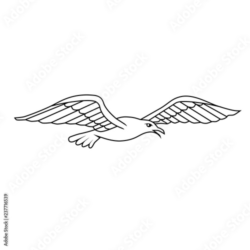 Obraz na plátně  Heraldic design element - Albatros. Vector illustration