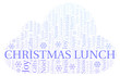Christmas Lunch word cloud.