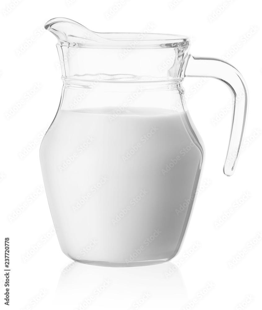 Fototapety, obrazy: Milk in a glass jug
