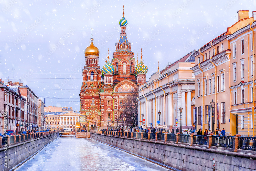 Fototapety, obrazy: Church of the Savior on Spilled Blood in St. Petersburg