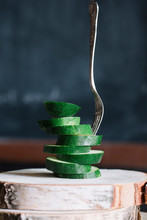 Stacked Sliced Courgettes And ...