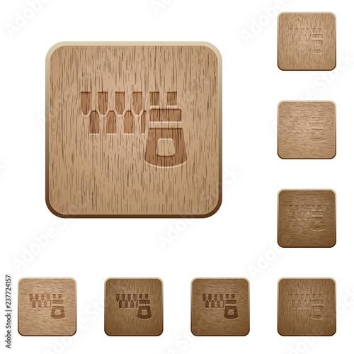 Fotografía  Horizontal zipper wooden buttons