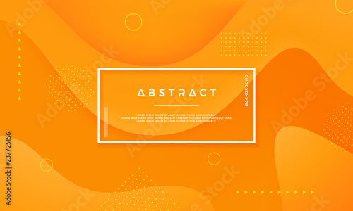 Vector background of Orange Yellow Circle. Abstract vector background with 3d style.Dynamic background with the concept of contours. - 237725156