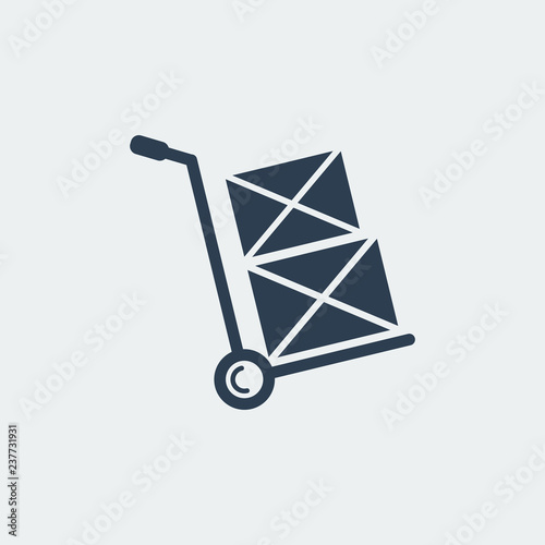 Leinwand Poster Hand truck Icon.Shipping Inventory.Vector Illustration