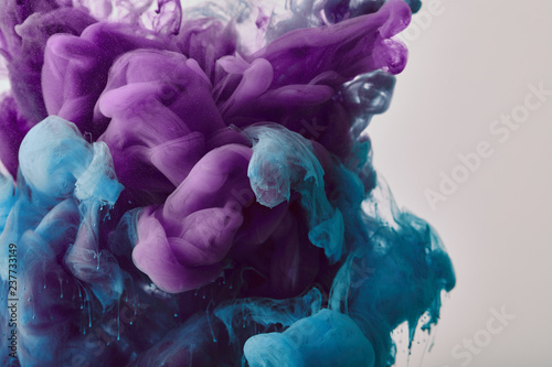 abstract background with purple and blue splash of paint