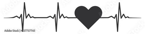 Photo Heart heartbeat #isoliert #vektor - Herz Herzschlag