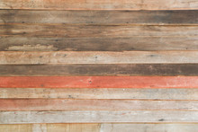 Old Wood Texture Background Of Decorarive Wood Striped On Wall.brown Plank Texture With Nail Hole