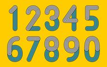 Retro Line  Numbers (Live Stroke Path)