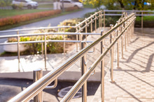 Concret Ramp Way With Stainles...