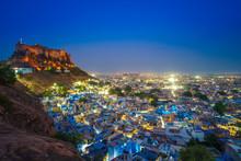 Night Scene Of Jodhpur In Raja...