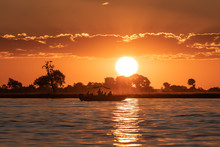 Sunset Boat Cruise On The Chobe River (Botswana)