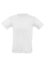 Mockup Of A Template Of A Man's T-shirt On A White Background