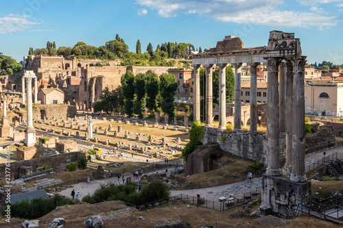 Photographie  The Roman Forum, the center of the economic and public life in ancient times, It