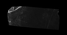 Transparent Adhesive Tape Isolated On Black Background, With Clipping Path