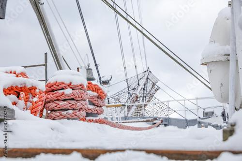 Winter holidays on a beautiful sailing ship