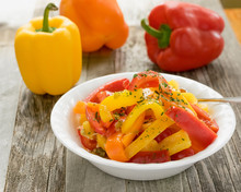 Red Orange And Yellow Bell Pepper Salad