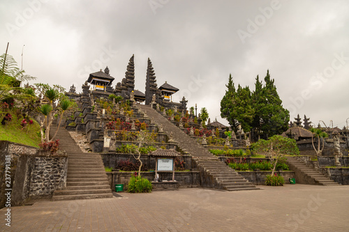 The Temple of Pura Besakih located on the slope of mountain Agung. Indonesia. Bali