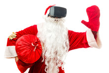 Santa Claus Wearing Virtual Re...
