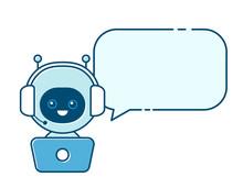 Cute Smiling Robot,chat Bot