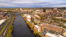 Aerial View Over Manchester Ne...