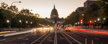 Early Morning Traffic Pennsylvania Avenue District Of Columbia National Capital