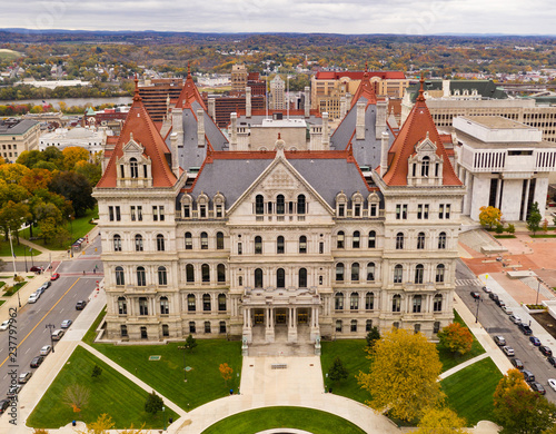 Fall Season New York Statehouse Capitol Building in Albany Fototapeta