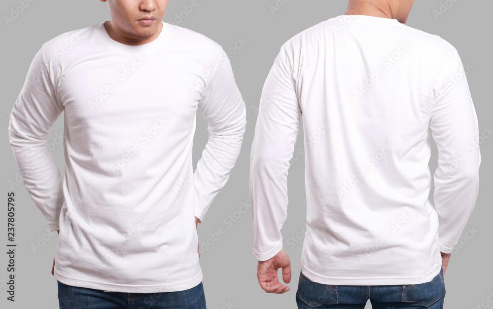 Fototapeta White Long Sleeved Shirt Design Template