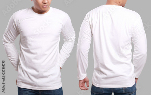 39e51869424d White Long Sleeved Shirt Design Template - Buy this stock photo and ...