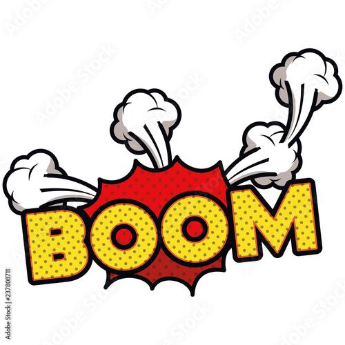 Fotografie, Obraz  boom comic words in speech bubble isolated icon