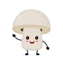 Funny Happy Cute Happy Smiling Mushroom