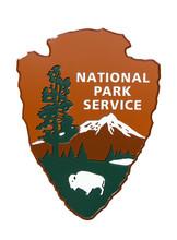 USA National Park Service Sign.