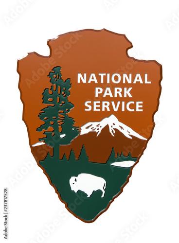 Photo USA National Park Service sign.