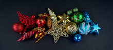 Colorful Christmas Baubles In ...