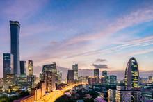 Urban Night View Landscape Of ...