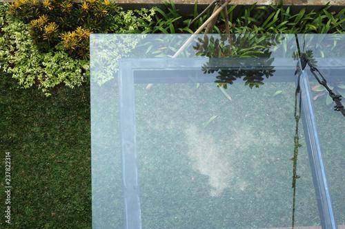 Modern minimalist Glass Canopy in the home garden Fototapeta