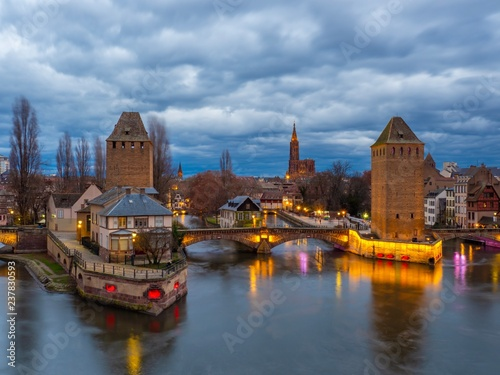 Keuken foto achterwand Centraal Europa Ponts couverts in Strasbourg Alsace France