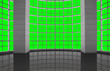 canvas print picture - Greenscreen conceptual, modern industrial architectural windows grid, for background use