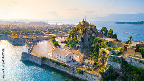 Foto auf Leinwand Südeuropa Panoramic view of Kerkyra, capital of Corfu island, Greece