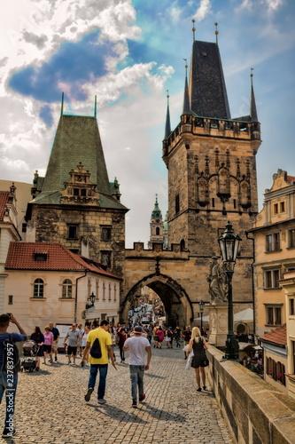 Spoed Foto op Canvas Centraal Europa Prag, Karlsbrücke
