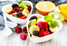 Bowls With Fruits Salad