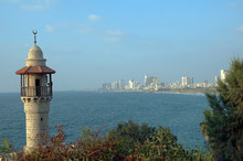 Turret Of El Baher Mosque Jaffa