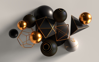 Cluster of abstract spheres...