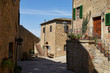 Small Old Mediterranean town - lovely Tuscan street in Italy city
