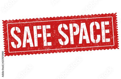 Fotografia, Obraz  Safe space sign or stamp