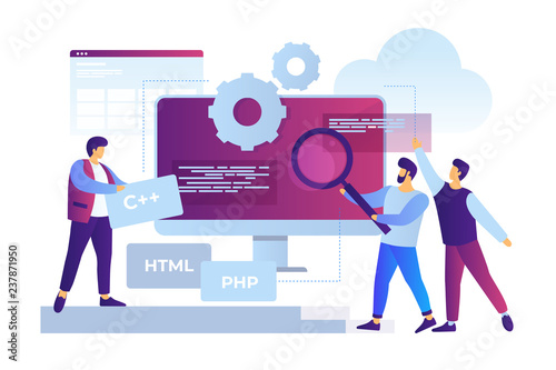 Fotografía Concept of software development and applications