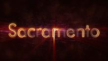 Sacramento - Shiny Looping City Name Text Animation