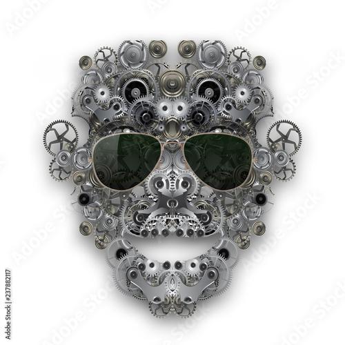 абстрактный футуристический фон с черепом