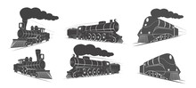 Locomotives Vector Elements Lo...