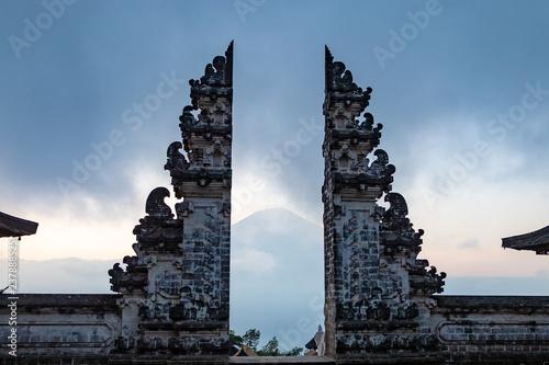 Ancient gates, Pura Lempuyang temple near Agung volcano, Bali island, Indonesia Canvas Print