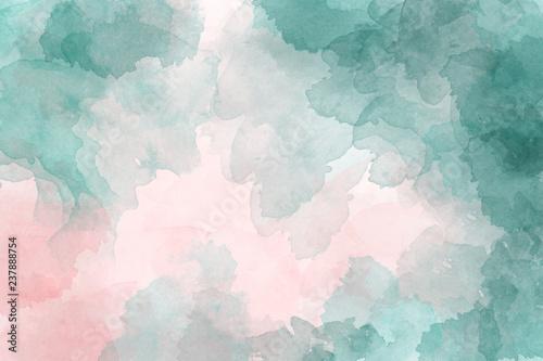 akwarela-odcienie-rozu-i-zieleni